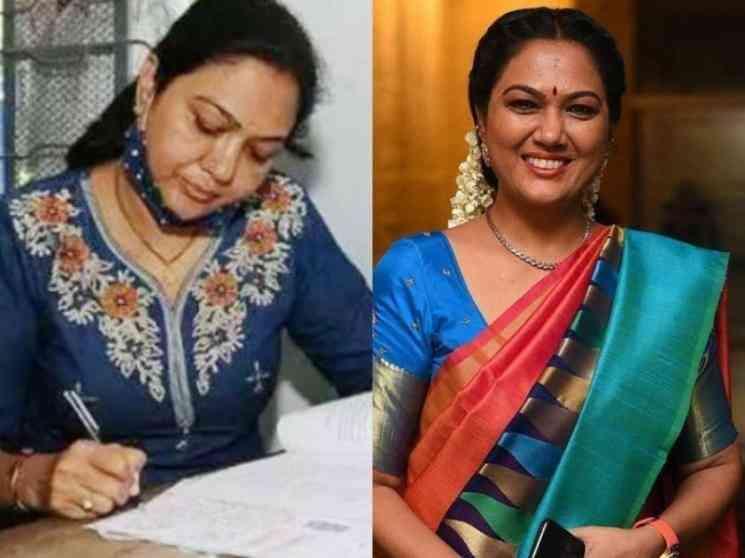 நுழைவுத் தேர்வு எழுதிய பிரபல குணசித்திர நடிகை ! ரசிகர்கள் பாராட்டு- Tamil Movies News