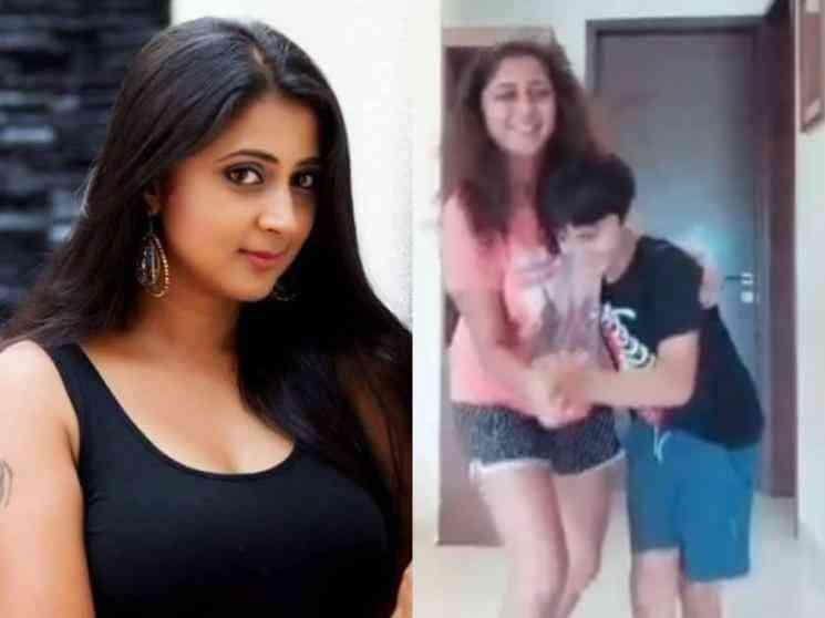 தில் பேச்சரா பட பாடலுக்கு மகனுடன் சேர்ந்து நடனமாடும் கனிகா !- Latest Tamil Cinema News