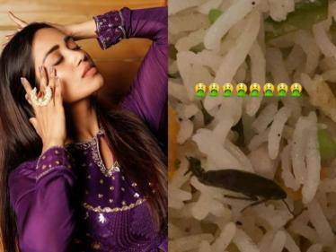 actress nivetha pethuraj shoked to find cockroach in food