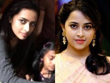 actress sri divya unseen shooting spot video out now