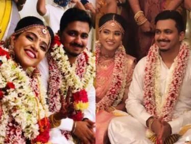 CONGRATULATIONS: Tamil serial actress Vaishali Thaniga gets married to Sathya Dev - WEDDING VIDEO! - Tamil Cinema News