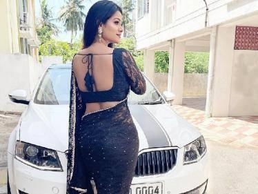 kanmani serial heroine leesha eclairs latest photoshoot sets internet on fire