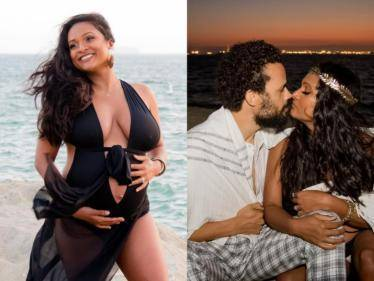 Nanban and Billa 2 singer SuVi Sureshs maternity photoshoot takes social media by storm - wishes pour in! - Tamil Cinema News