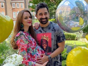 Popular actor and his wife get a surprise baby shower - Celebration pics go viral! - Tamil Cinema News