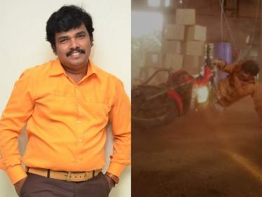 Telugu hero Sampoornesh Babu's narrow escape after bike stunt scene goes wrong | Bazaar Rowdy