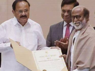 Superstar Rajinikanth honoured with the Dadasaheb Phalke Award | Watch the AWARDING VIDEO here! - Tamil Cinema News