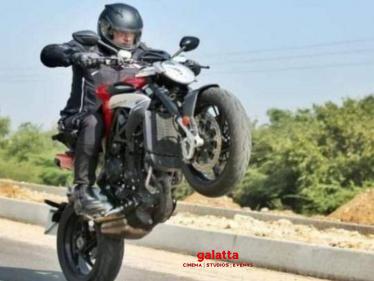 First big glimpse of Thala Ajith's Valimai bike stunt scene - pic goes viral!