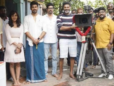 actor prabhu deva varalaxmi sarathkumar next movie starts with pooja