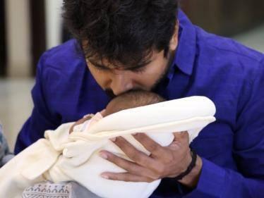 actor sivakarthikeyan named his son gugan doss photo goes viral