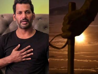 actor vishal next movie vishal 32 title look pre launch sunaina