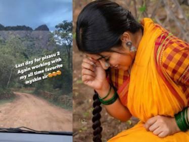 actress poorna completed her parts in mysskin pisasu 2 shoot