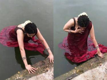 actress ritika singh fall in pond while photoshoot