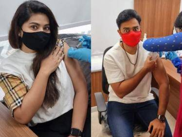 actress sneha scared while vaccination viral video here