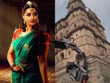 actress trisha shared shooting spot photo from mani ratnam ponniyin selvan