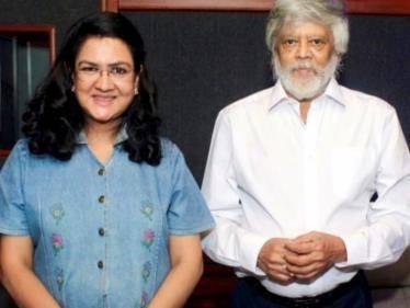 actress urvasi finished her dubbing in prashanth thiagarajan andhagan movie