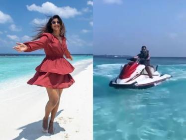 மாலத்தீவில் இருந்து வீடியோ வெளியிட்ட நடிகை ஐஸ்வர்யா ராஜேஷ் !