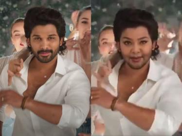அல்லு அர்ஜுன் போல் மாறிய பிரபல நடிகை !