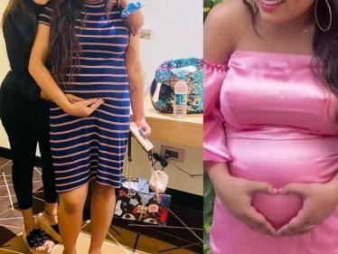 bharathi kannamma farina azad pregnancy announcement photoshoot video