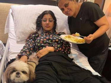 bigg boss yashika aannand latest hospital photo with her mother and pet goes viral