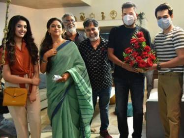 director shankar surprise visit to lingusamy rapo19 set