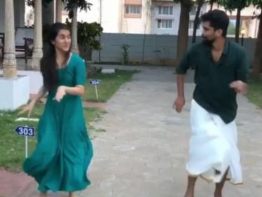 இணையத்தை கலக்கும் சஞ்சனாவின் டான்ஸ் வீடியோ !