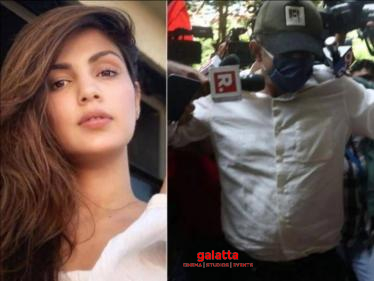 Rhea Chakraborty's Father Mobbed By Media - Actress Shares Video!