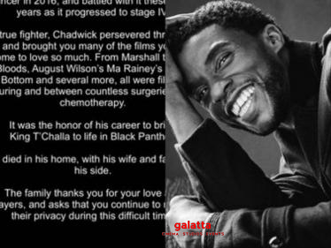 Fans's Massive Tribute To Black Panther Actor Chadwick Boseman - Tamil Cinema News