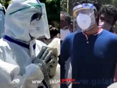 HEARTBREAKING VISUALS: Sivakarthikeyan and Udhayanidhi Stalin at Arunraja Wife's Cremation!