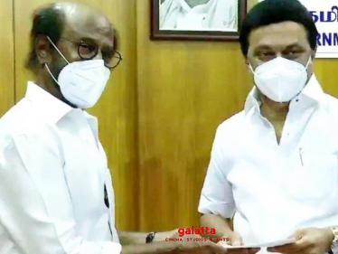 Rajinikanth meets TN Chief Minister MK Stalin - makes his donation towards Corona Relief Fund!