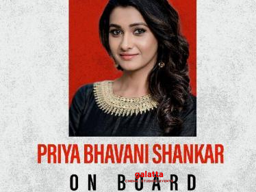 OFFICIAL: Priya Bhavani Shankar onboard for this exciting action thriller!  - Tamil Cinema News