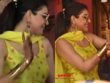 Kajal Aggarwal-Gautam Kitchlu mehendi ceremony celebrations   Wedding dance viral video