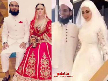 Silambattam actress Sana Khan announces her wedding - marriage pictures go viral!