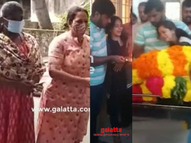 Anitha Sampath in uncontrollable tears at father's funeral event - heartbreaking video - Tamil Cinema News