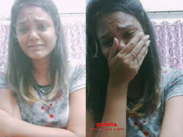 Popular Tamil TV serial actress breaks down into tears - watch video here!