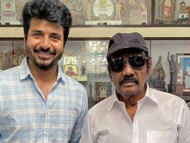 sivakarthikeyan meets legendary comedy actor goundamani picture goes viral