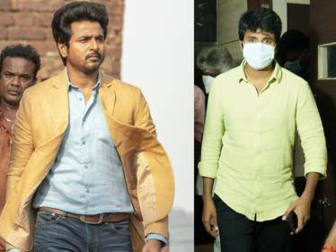 sivakarthikeyan new look photo from doctor theatre celebrations goes viral