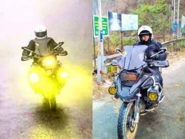 thala ajith kumar unseen bike riding photos goes viral