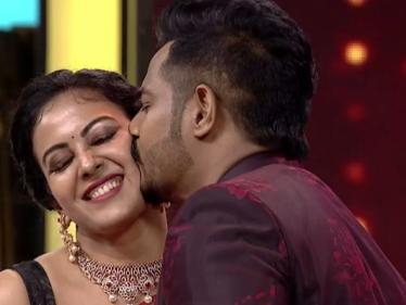 மனைவியுடன் ரொமான்ஸ் செய்த சீரியல் நடிகை ! வீடியோ இதோ