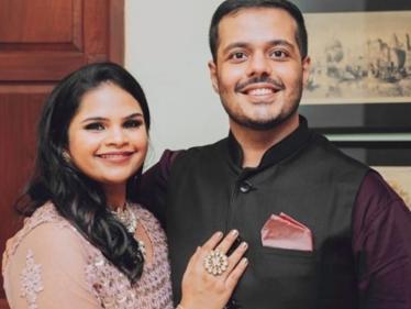 இணையத்தை அசத்தும் நடிகை வித்யூ ராமனின் நிச்சயதார்த்த புகைப்படங்கள் !