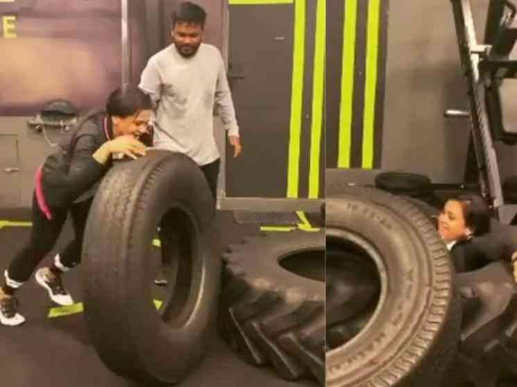 சொதப்பிய ஒர்க்கவுட்...கீழே விழுந்த குக் வித் கோமாளி பிரபலம் !- Tamil Movies News