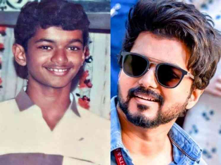 Thalapathy vijay unseen childhood pictures on social media