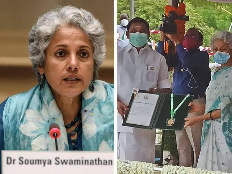 கொரோனா தடுப்பு பணி : மருத்துவர் சௌமியா சுவாமிநாதனுக்கு விருது!