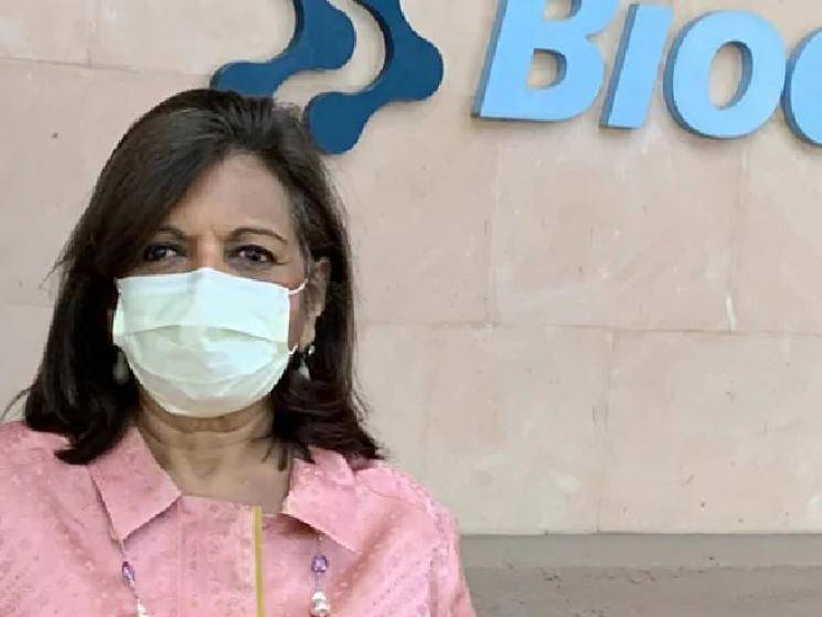MD of Biocon - Kiran Mazumdar Shah tests positive for COVID!