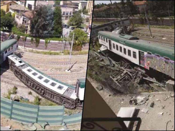 Driverless train with one passenger derails in Northern Italy, three sustain minor injuries