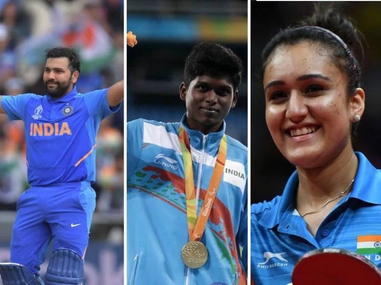 Rohit Sharma, Mariyappan Thangavelu and three other athletes to get Rajiv Gandhi Khel Ratna Award