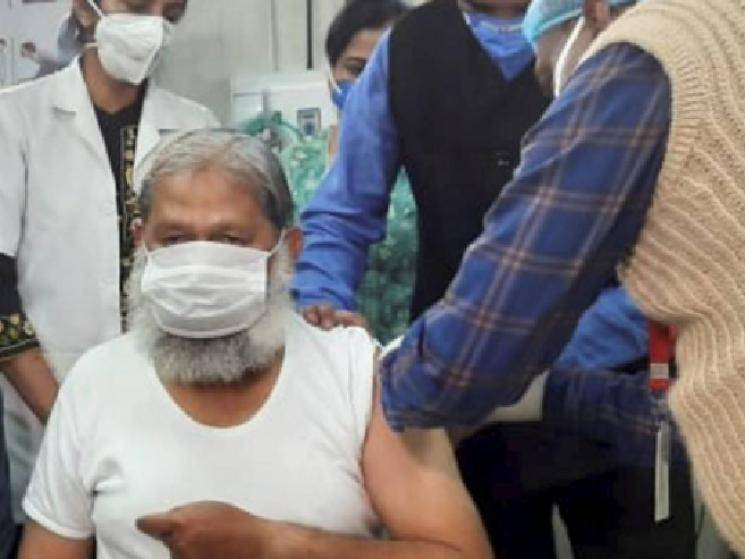 Haryana Health Minister Anil Vij turns volunteer & gets injected with Covaxin!