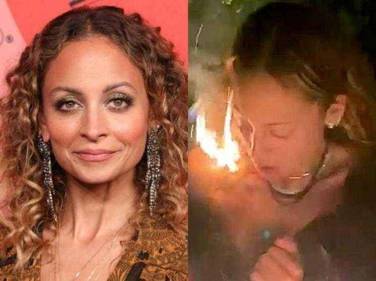 Nicole Richie's hair accidentally catches fire while blowing out her birthday candles - WATCH VIDEO!