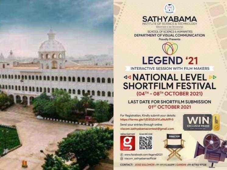 Sathyabama University announces National Level Short Film Festival 2021 - Official Deets here!