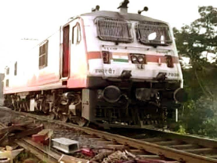 Express train between Puri & Surat derails after hitting elephant!
