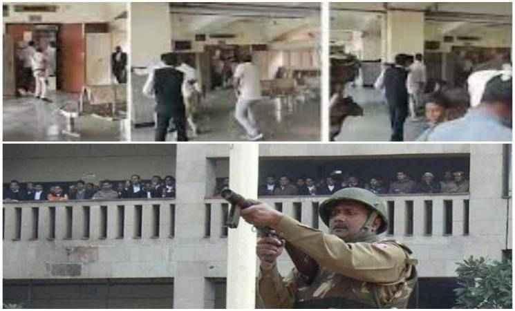 டெல்லி நீதிமன்றத்தில் துப்பாகி சூடு.. பிரபல தாதா உள்பட 4 பேர் பலி!